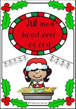 Jul med bogstaver og ord Color by Code
