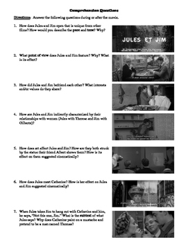 Jules and Jim Film (1962) Study Guide Movie Packet