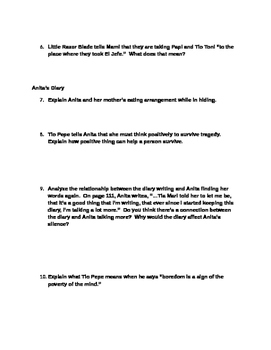 Julia Alvarez ~ Before We Were Free Chapter 9 Study Questions & Guide