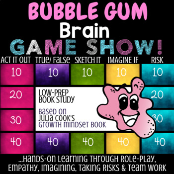 Julia Cook's BUBBLE GUM BRAIN: School Counseling Growth Mindset Lesson