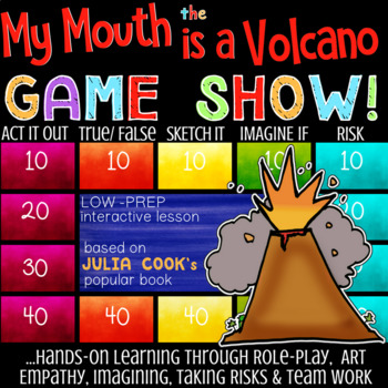 Julia Cook's MY MOUTH IS A VOLCANO Book Study on Self-Control & Interrupting