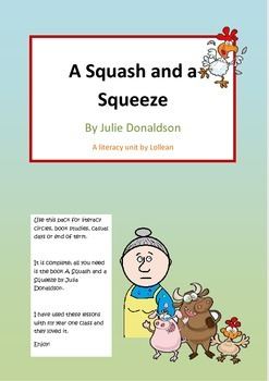 Julia Donaldson A squash and a squeeze comprehension Literacy circle close