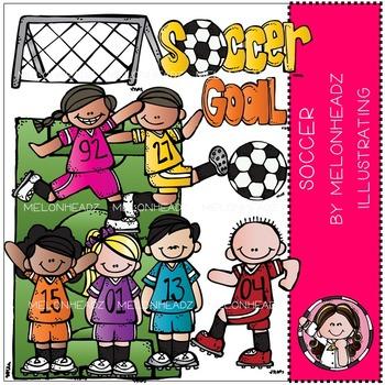 Melonheadz: Soccer clip art - COMBO PACK
