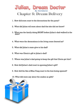 Julian, Dream Doctor Comprehension Questions