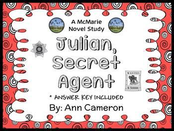 Julian, Secret Agent (Ann Cameron) Novel Study / Comprehension  (23 pages)