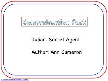 Julian, Secret Agent Comprehension Pack