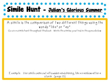 Julian's Glorious Summer by Ann Cameron:  A Complete Literature Study!