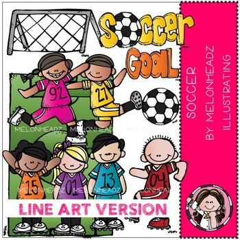 Melonheadz: Soccer clip art - LINE ART