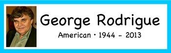 George Rodrigue Artist Display Card