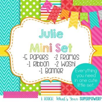 Digital Paper and Frame Mini Set Julie