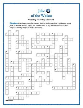 Julie of the Wolves: 50-word Prereading Crossword