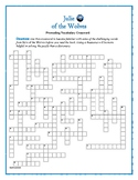 Julie of the Wolves: 50-Word Prereading Crossword—Great Warm-Up for the Book!