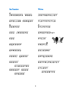 Julie of the Wolves: 6 Cryptocategory Word Puzzles—Unique!