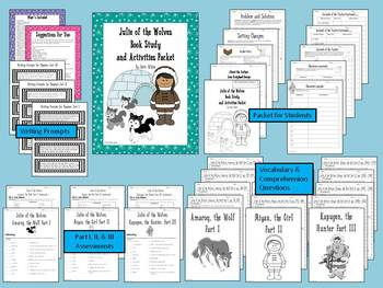Julie of the Wolves Book Study & Activities Packet