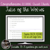 Julie of the Wolves Comprehension Quick Checks - Distance