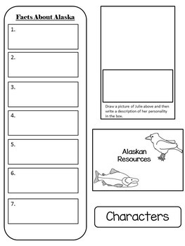Julie of the Wolves - Interactive Notebook/Lapbook