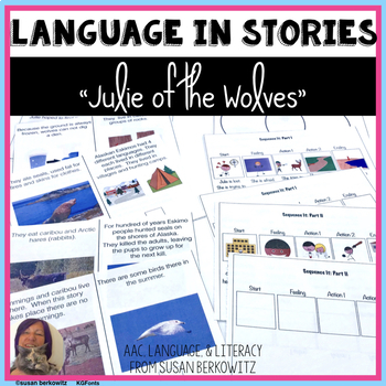 Julie of the Wolves Language  Materials for Special Education Speech Therapy