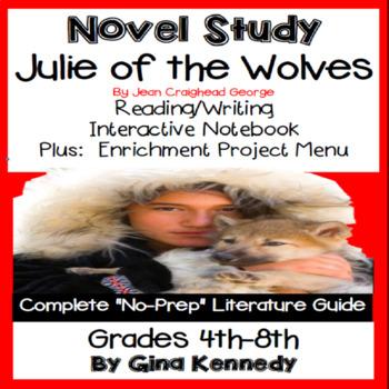 Julie of the Wolves Novel Study + Enrichment Project Menu