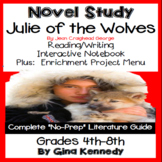 Julie of the Wolves Novel Study + Enrichment Project Menu