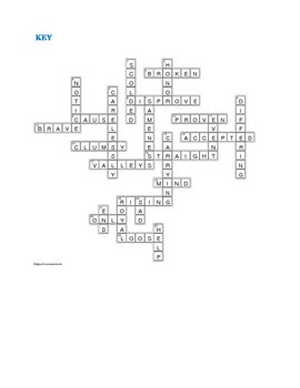 Julie of the Wolves: Synonym/Antonyn Crossword—Pair with Bookmarks Plus!