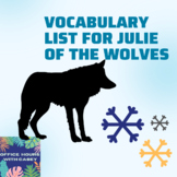 Julie of the Wolves Vocabulary List
