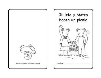 Julieta y Mateo hacen un picnic Spanish printable minibook