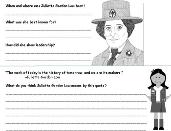 Juliette Gordon Low Flapbook
