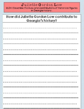 Juliette Gordon Low Graphic Organizer Set