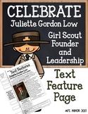 Juliette Gordon Low Text Features Page SS/ELA Review