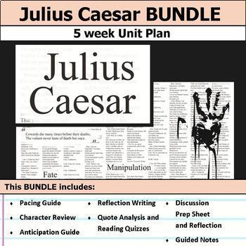 Julius Caesar Literary Analysis Unit By S J Brull Tpt