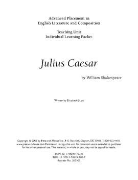 Julius Caesar AP Teaching Unit