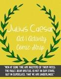 Julius Caesar Act 1 Activity Comic Strip