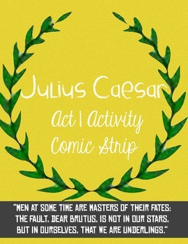 Julius Caesar Act 1 Activity Comic Strip