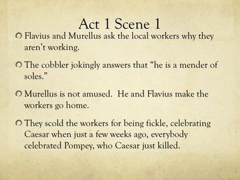 Julius Caesar Act 1 Guided Reading Summaries