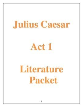 Julius Caesar Act 1 Literature Packet