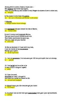 Julius Caesar Act 1 Objective Quiz Plot Comprehension