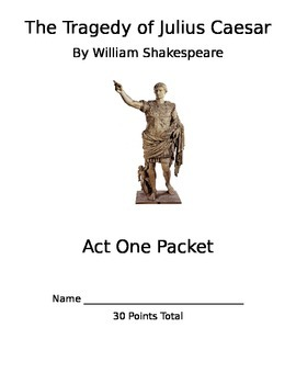 Julius Caesar Act 1 Packet