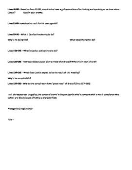 Julius Caesar Act I - Active Reading Guide