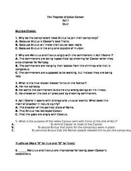 Julius Caesar Act I Quiz