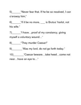 Julius Caesar Act I Quiz and Bonus Study Activity
