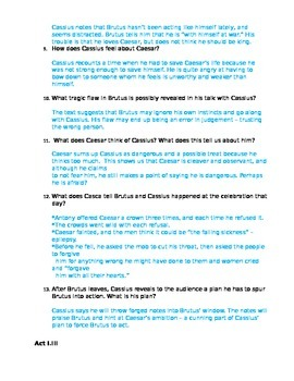 Julius Caesar Act I Study Guide and Key