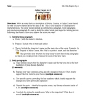 Julius Caesar Act I Writing Project: Characterization