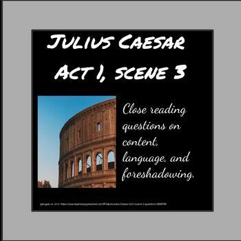 Julius Caesar - Act I, scene 3 questions