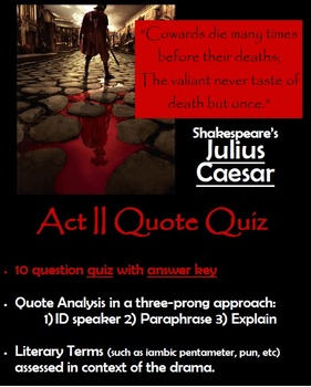 Julius Caesar - Act II Quote Quiz