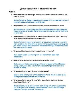 Julius Caesar Act II Study Guide and Key