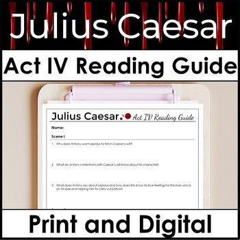 Julius Caesar Act 4 Study Guide