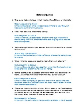 Julius Caesar Act IV Study Guide and Key
