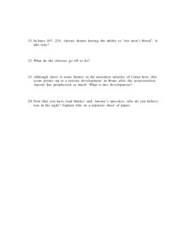 Julius Caesar Act Three Study Guide