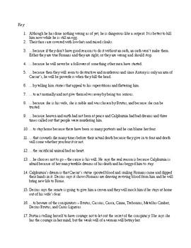 Julius Caesar Act Two Quiz
