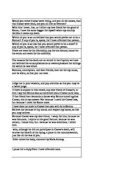 Julius Caesar Acts 2-3  Modern Text match to Shakespearean Text